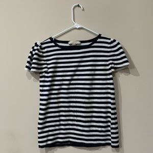 Ann Taylor Loft ruffled sleeve sweater shirt